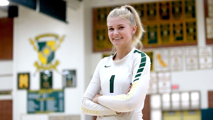 Senior outside hitter Samantha Schofield, led her team to a 3-0 week for the Edison Chargers.
