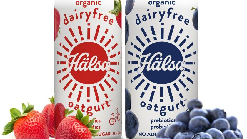 Organic oats and fruit make up yogurt drinks from Salsa Credit - Halsa