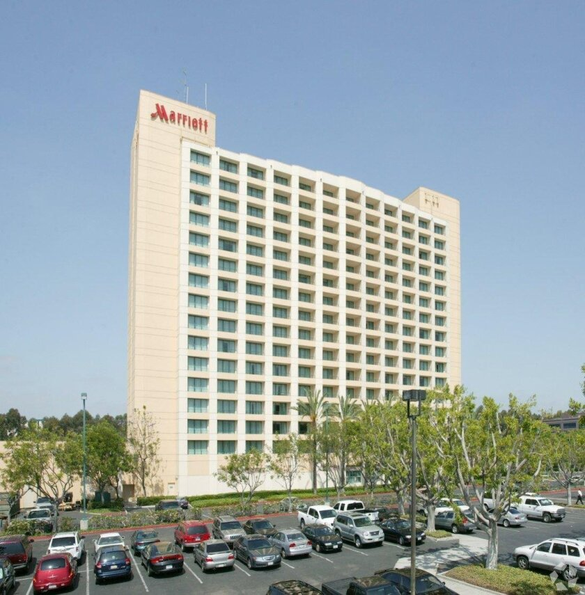 The Mission Valley Marriott hotel has been sold for $76 million.