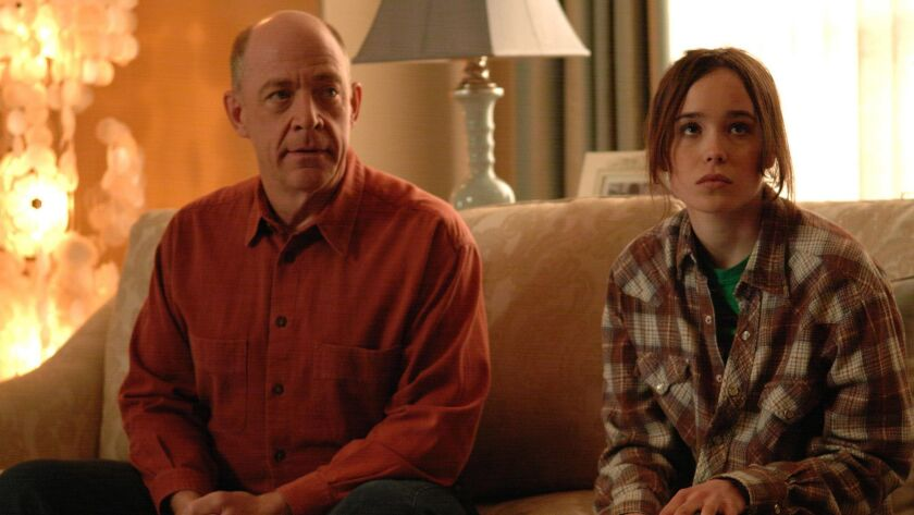 J.K. Simmons and Ellen Page in the 2007 movie JUNO.