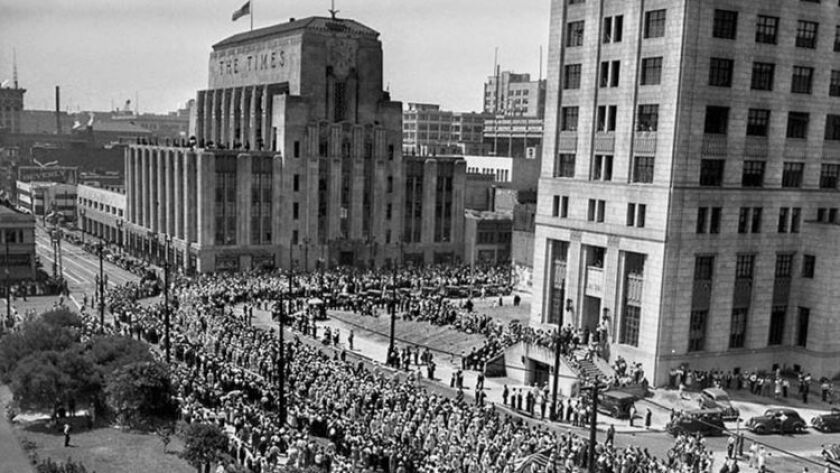 Sep. 6, 1937: About 50,000 Los Angeles area workers march in the annual Labor Day parade on Spring