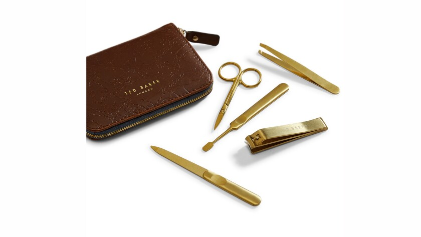 NAILFIL Men?s Manicure Set from Ted Baker London. This discreet leather case zips open to reveal na