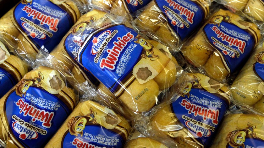 Twinkies for sale at the Hostess Brands bakery in Denver in 2013.