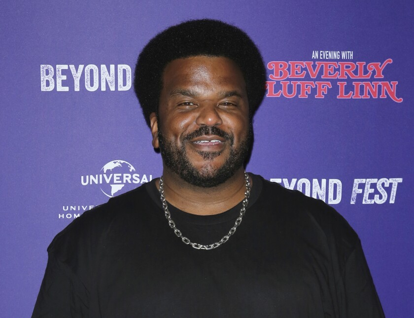 """FILE - Craig Robinson attends the premiere of """"An Evening with Beverly Luff Linn"""" in Los Angeles on Oct. 8, 2018. Robinson will host the celebrity competition series, """"The Masked Dancer."""" (Photo by Willy Sanjuan/Invision/AP, File)"""