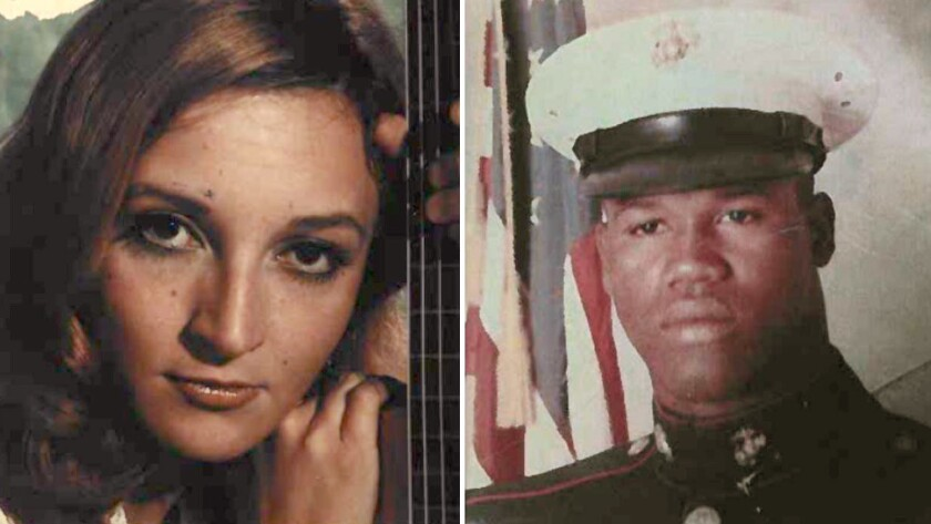Leslie Penrod Harris, left, and Eddie Lee Anderson are seen in photos from 1976 released by the Oran