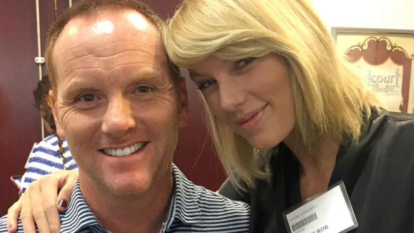 Taylor Swift and business owner Bryan Merville were potential jurors in Nashville on Monday.