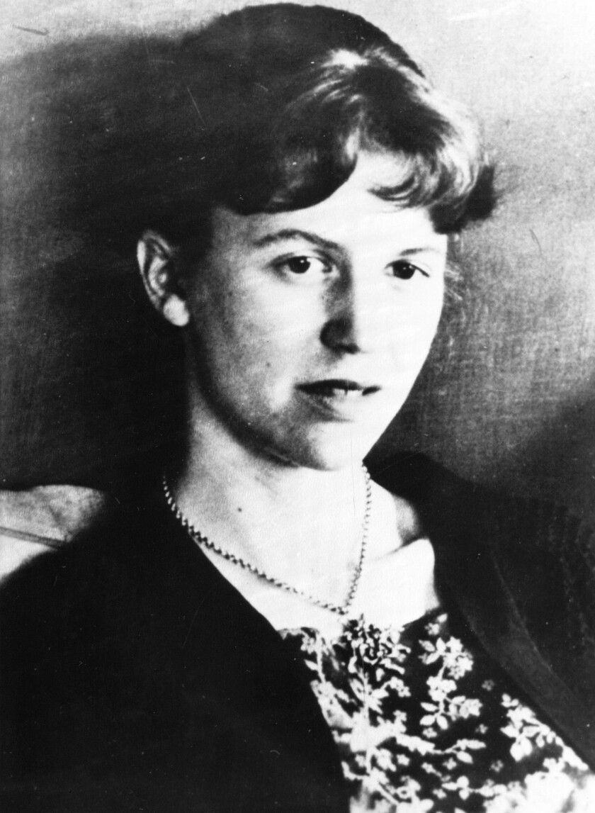 "File---An undated file photo of American author Sylvia Plath. Six authors read her ""Ariel: The Res"