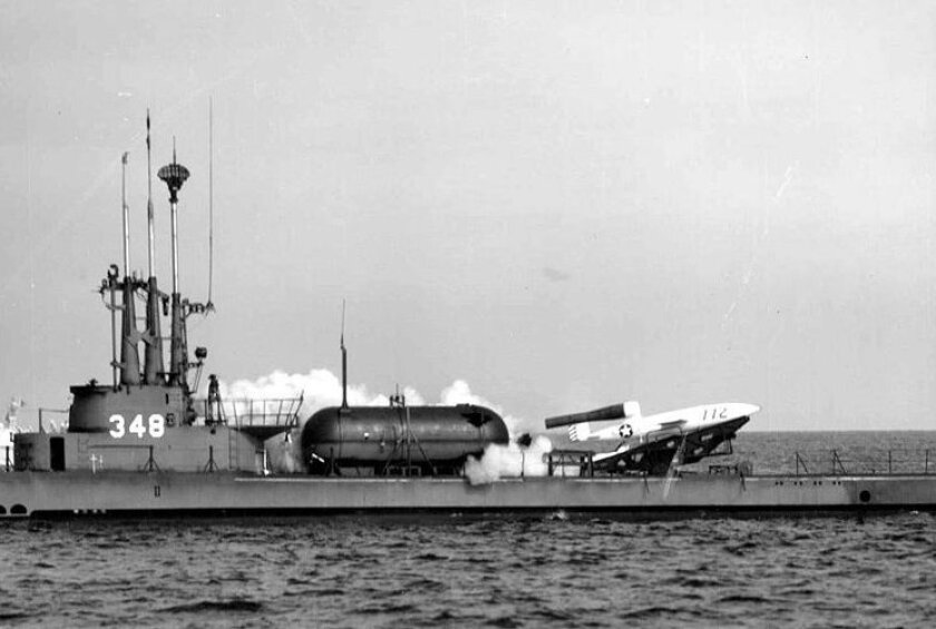 The Balao-class submarine Cusk operated out of San Diego shortly after World War II, and stocked Republic-Ford-JB2 missiles.