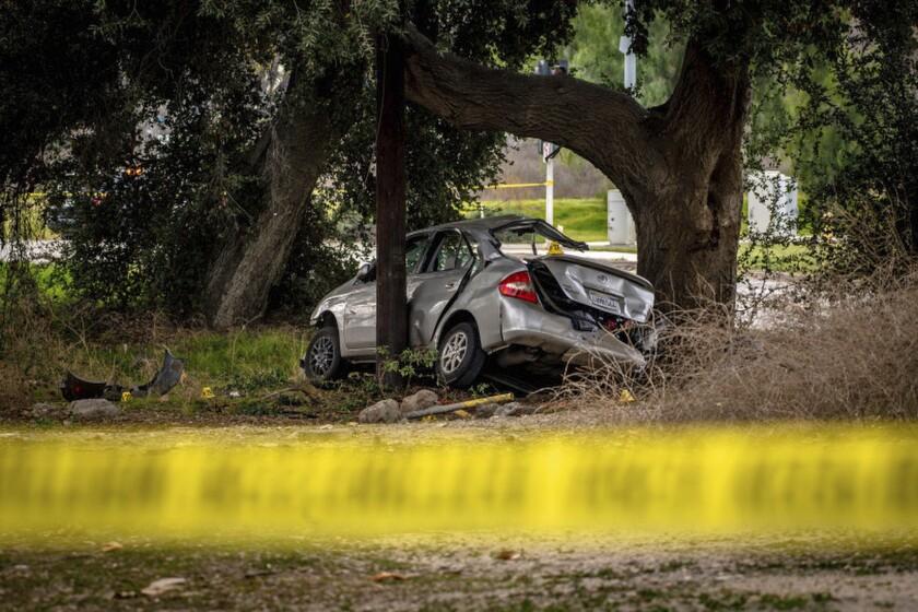 A smashed car