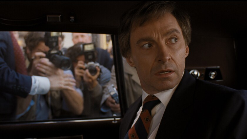 """Hugh Jackman stars as Gary Hart in Columbia Pictures' """"THE FRONT RUNNER."""" Credit: Sony Pictures"""