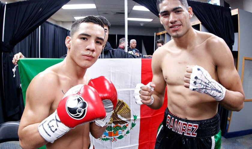 Óscar Valdez (i) y Gilberto 'Zurdo' Ramírez, figuras de una magna cartelera.