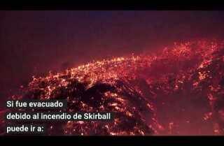 Albergues para los afectados por los incendios forestales del sur de California