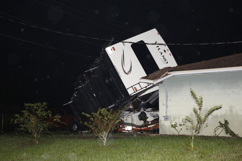 Cyclone Nestor heads into Georgia after spawning damaging tornadoes in Florida