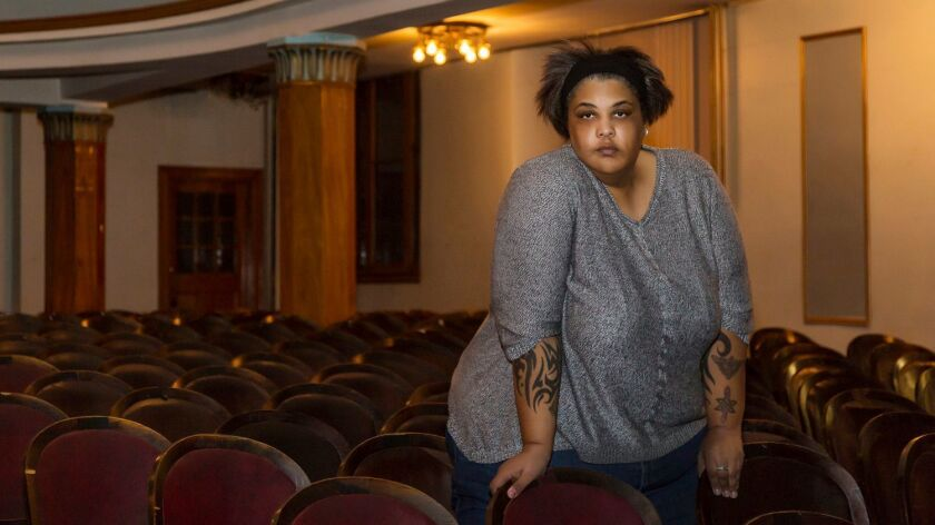 "Roxane Gay. Her new book is ""Hunger."""