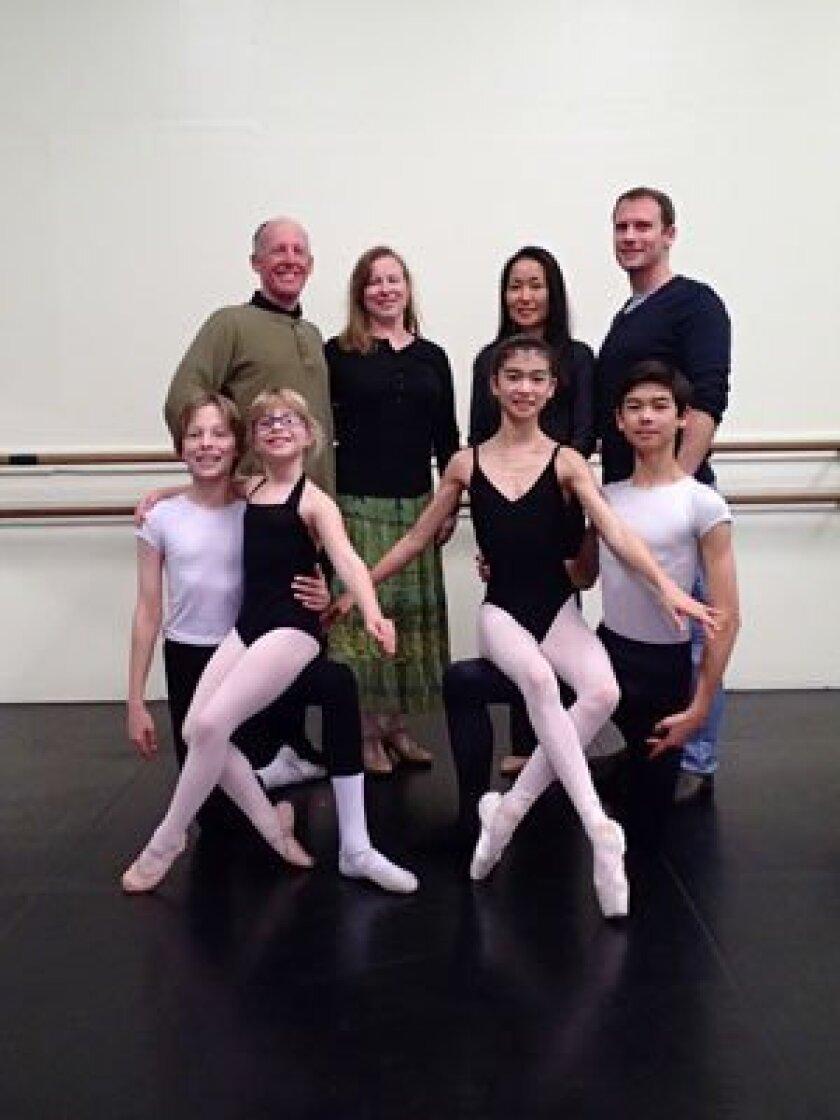 Top row (l-r): Karl Warkentien, Ellen Warkentien, Naomi Morin, Olivier Morin; Bottom row (l-r): Brian Warkentien, Nicole Warkentien, Kyono Morin, Takumi Morin.