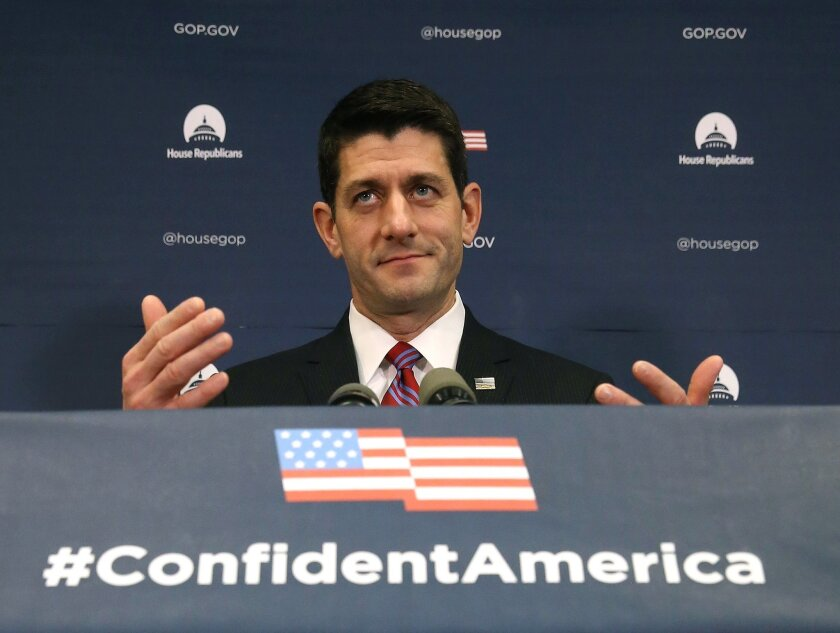 House Speaker Paul Ryan (R-Wis.) addresses the media about the GOP's proposal to repeal major portions of the 2010 Affordable Care Act on Capitol Hill Wednesday.