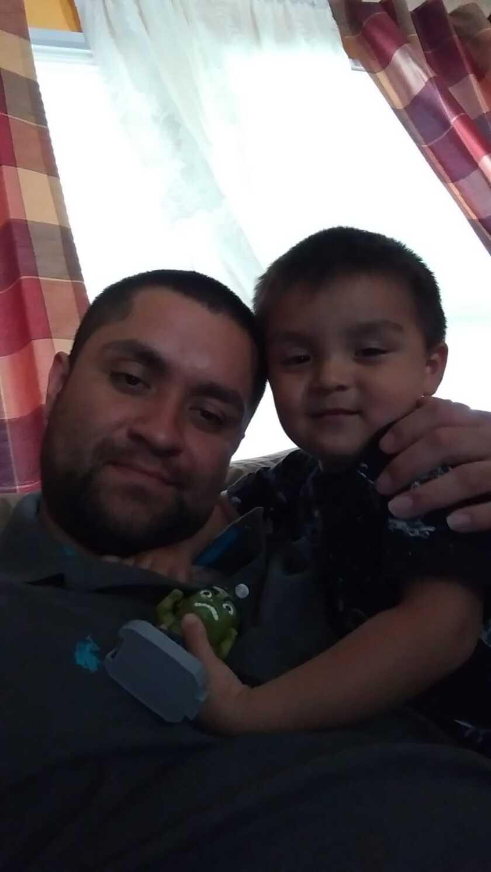 Sergio Martinez Lopez and his son