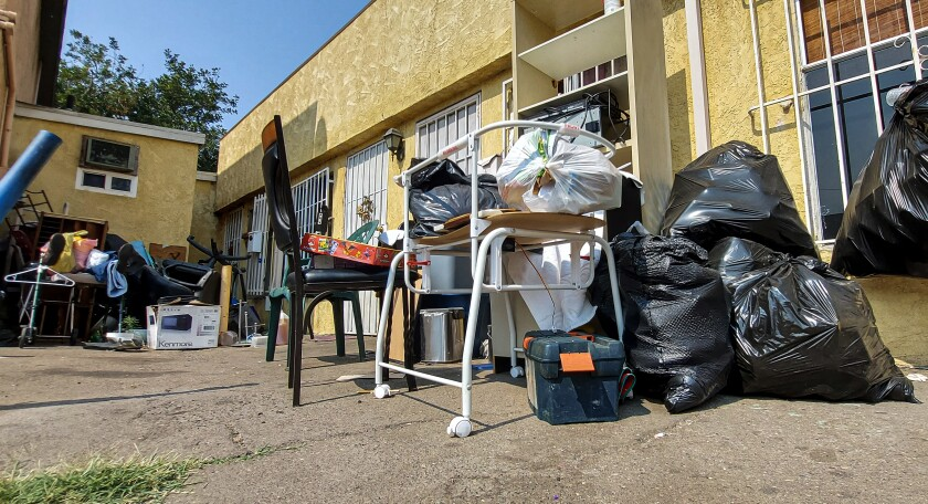 Residents of this building in San Ysidro have complained about it being infested with vermin and mold.