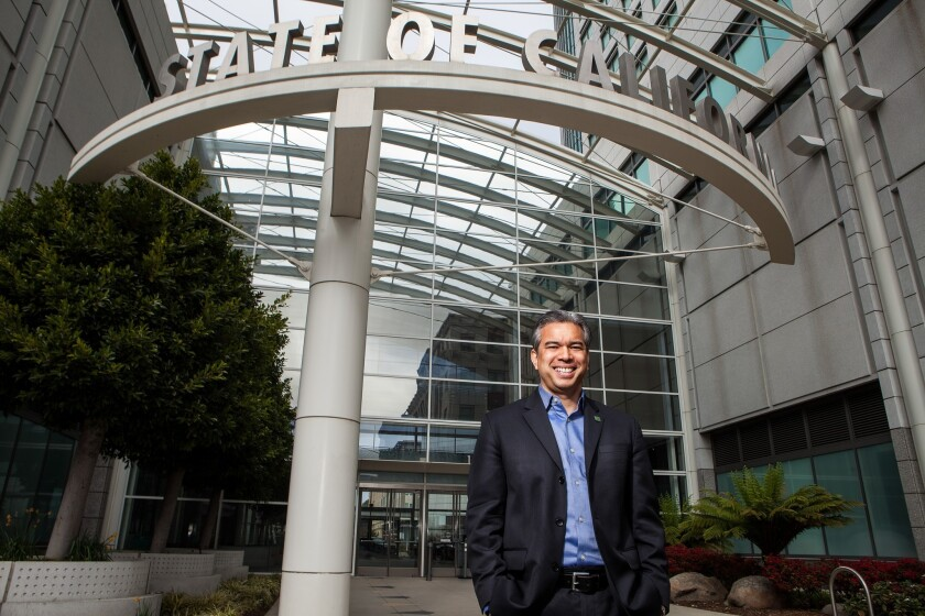 Assemblyman Rob Bonta (D-Alameda), nominated as California's attorney general, faces a full plate of challenges