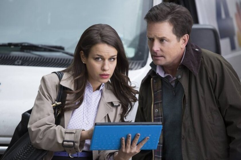 """Ana Nogueira as Kay and Michael J. Fox as Mike in """"The Michael J. Fox Show."""""""