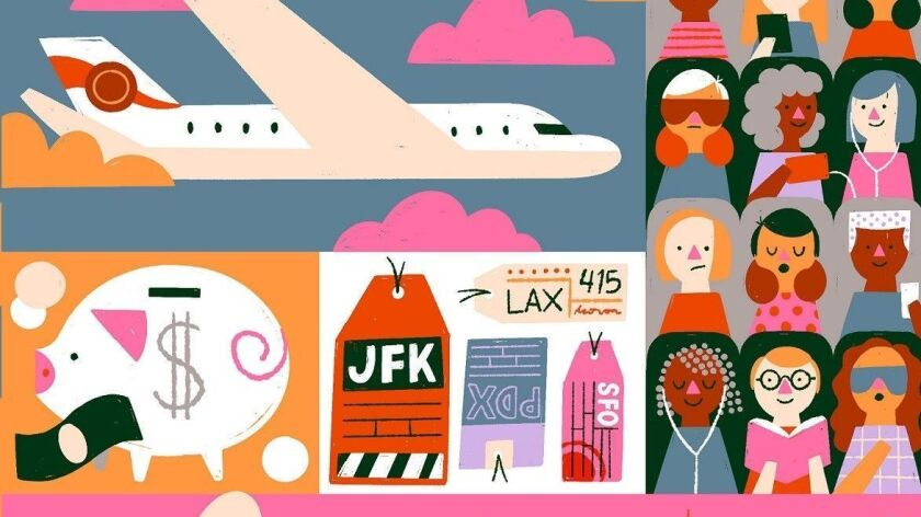 Illustration for flying low fares in the summer.