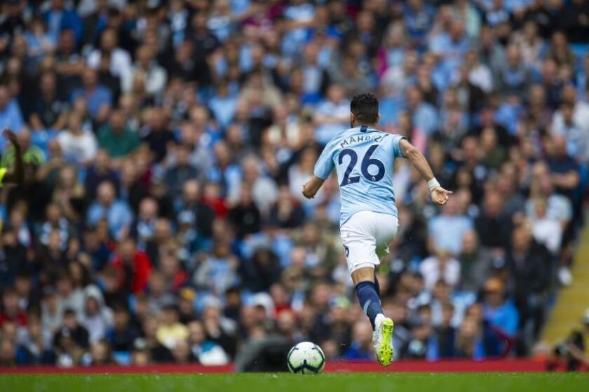 El Manchester City, con gol de Mahrez, logró en Bournemouth su quinta victoria seguida EFE/EPA/Archivo