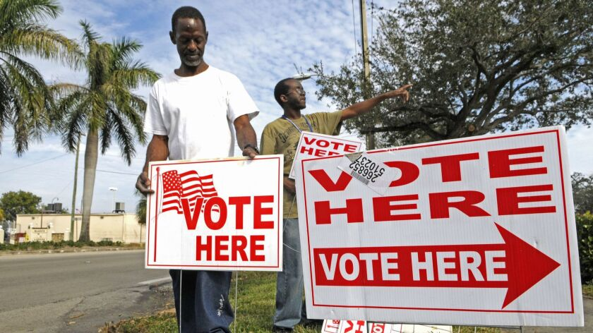Voter purges — like voter ID laws, like restricting early voting, like limiting the number of polling locations — offer an opportunity to make it harder for people who might vote Democratic to cast a ballot, especially African-Americans.
