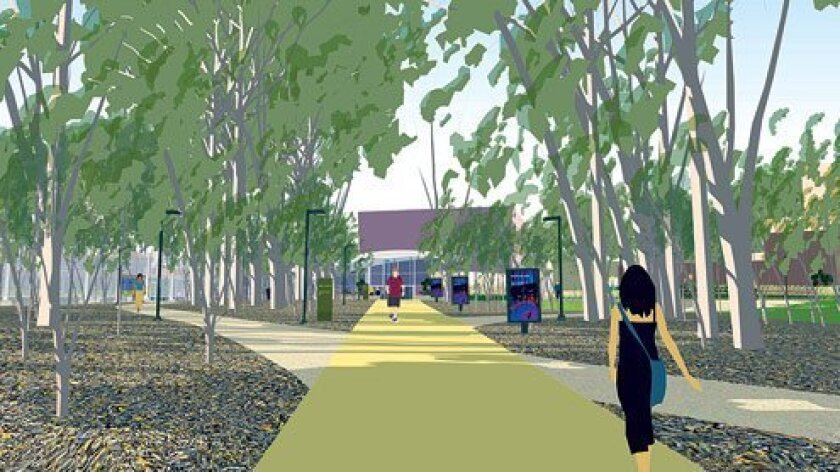 Artist's rendering of renovated areas near the La Jolla Playhouse on the UC San Diego campus. Courtesy Photo