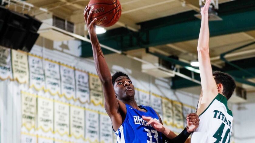Drew Cisse is playing center for Rancho Bernardo High School after returning from eight months in Af