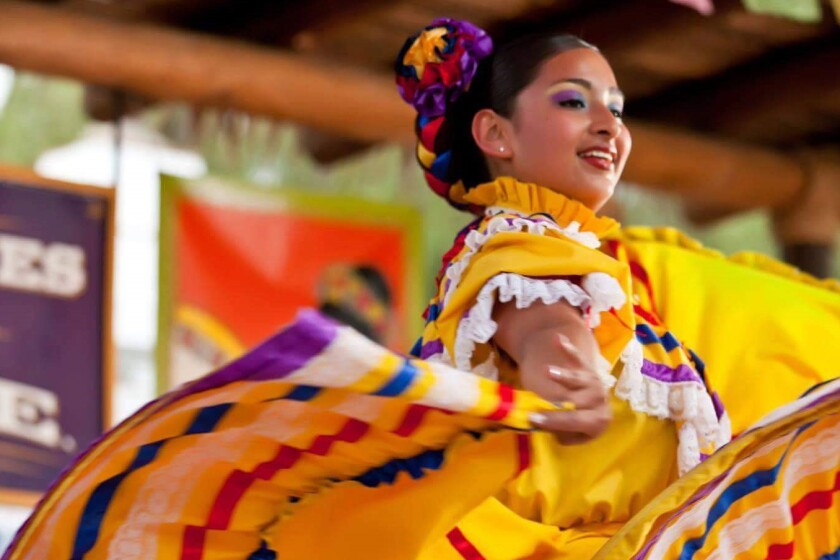 Dancer with the group Ballet Folklorico Real de San Diego, which will be featured at the Hispanic Heritage Festival on Saturday, Oct. 12.