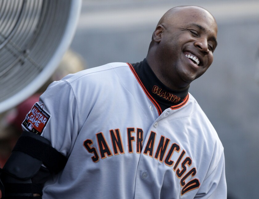 Giants slugger Barry Bonds passed the legendary Babe Ruth on the all-time home run list on May 28, 2006.