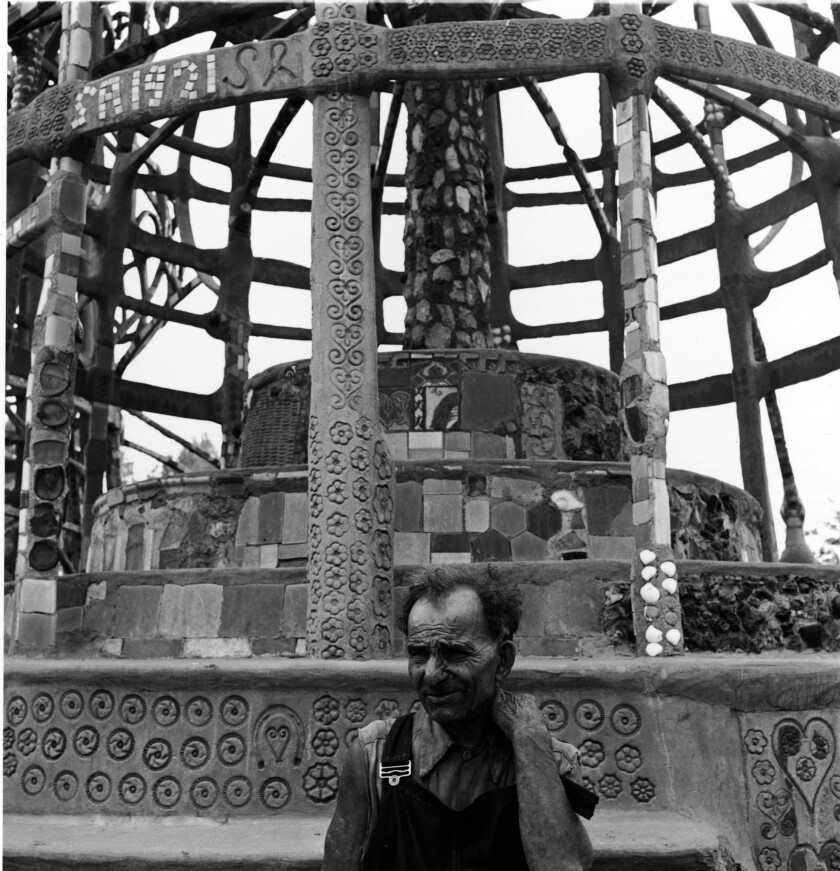 Rodia Sits Within Watts Towers