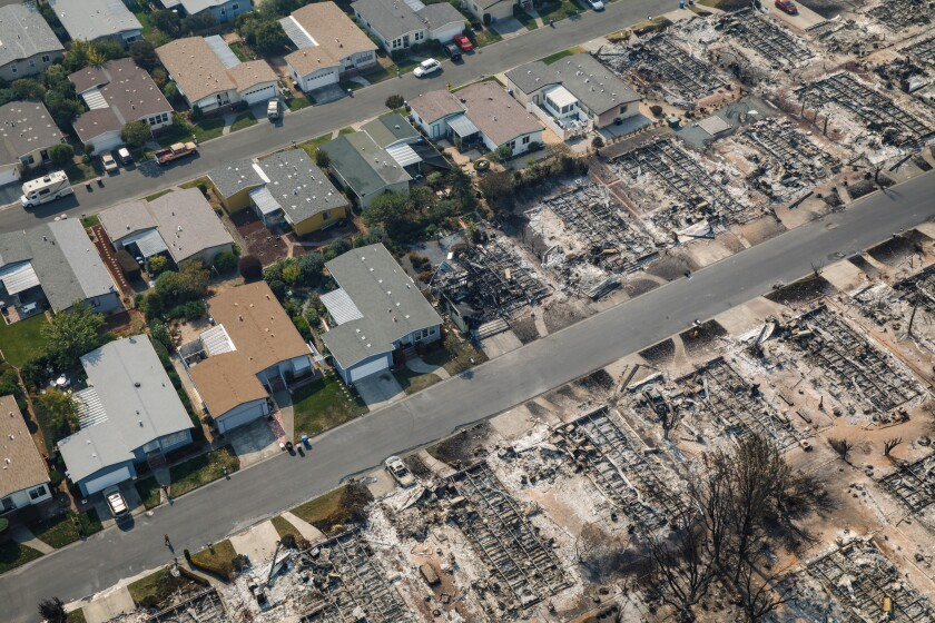 Some homes in Coffey Park were undamaged in the 2017 Tubbs fire, while others were destroyed.