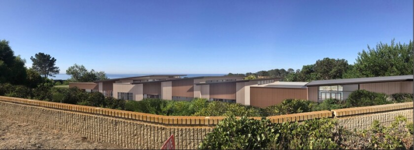 The Del Mar Heights rebuild as seen from Mira Montana.