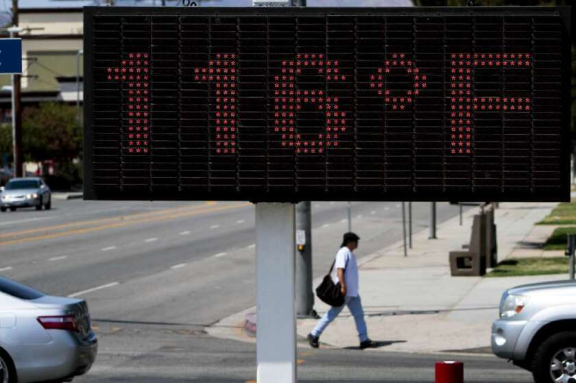 A heat wave caused record temperatures last summer in Canoga Park, Calif. U.N. meteorologists say 2012 was the ninth hottest year since 1850.