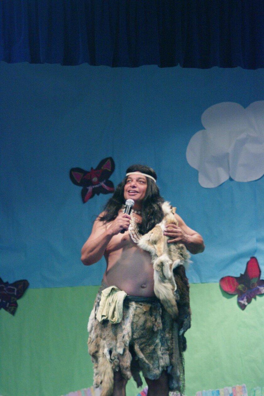 Native American comedian, historian and storyteller Abel Silvas