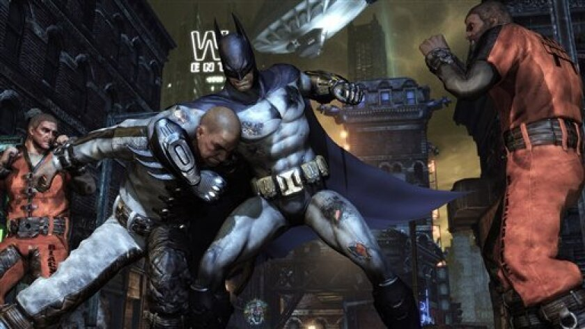 "A scene from ""Batman: Arkham City,"" released by Rocksteady Studios/Warner Bros. Interactive Entertainment."
