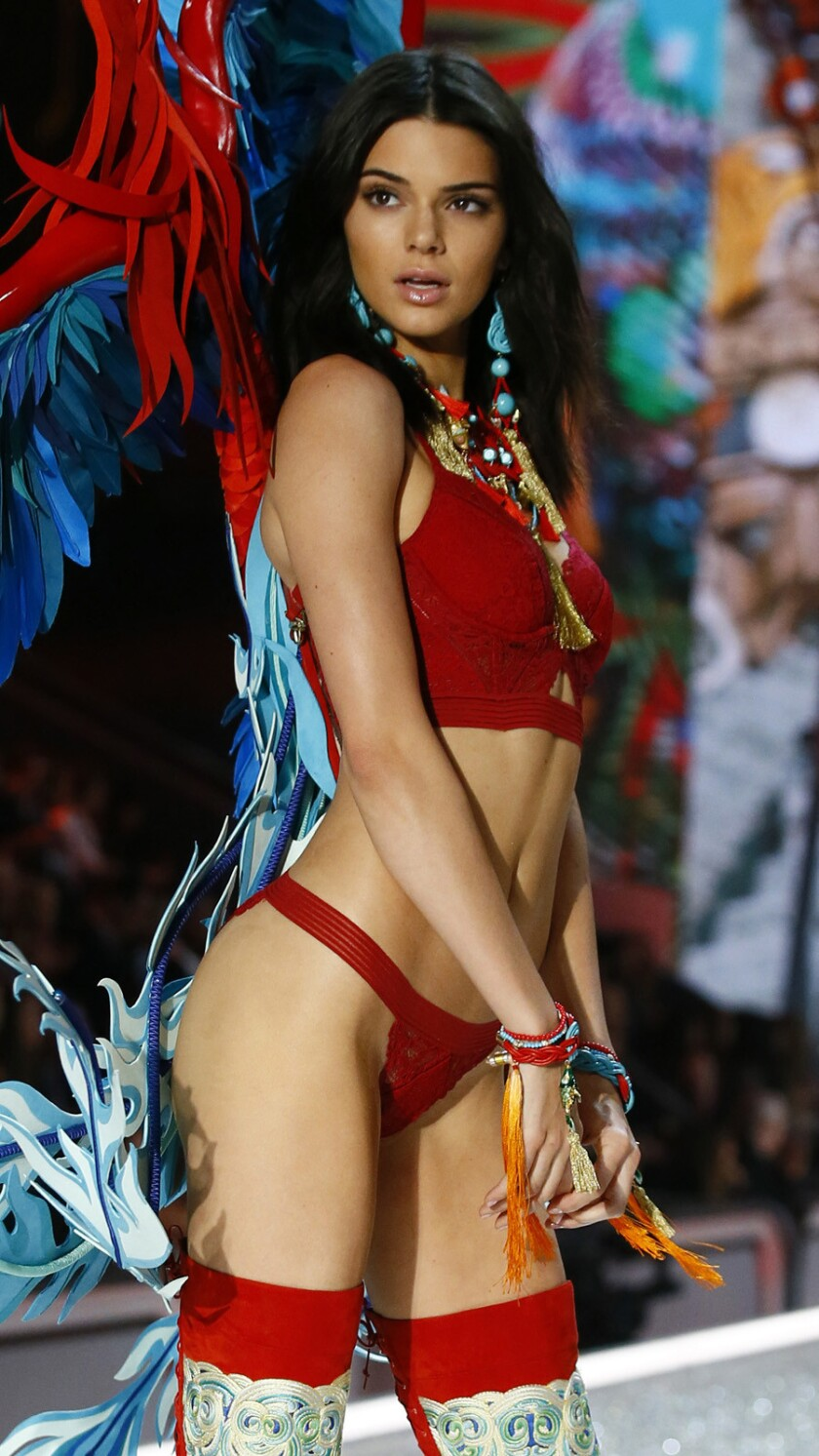 Kendall Jenner at the Victoria's Secret Fashion Show in Paris on Wednesday.