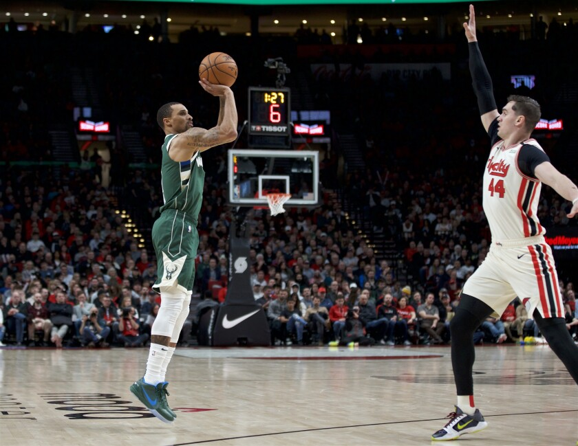 Bucks Trail Blazers Basketball