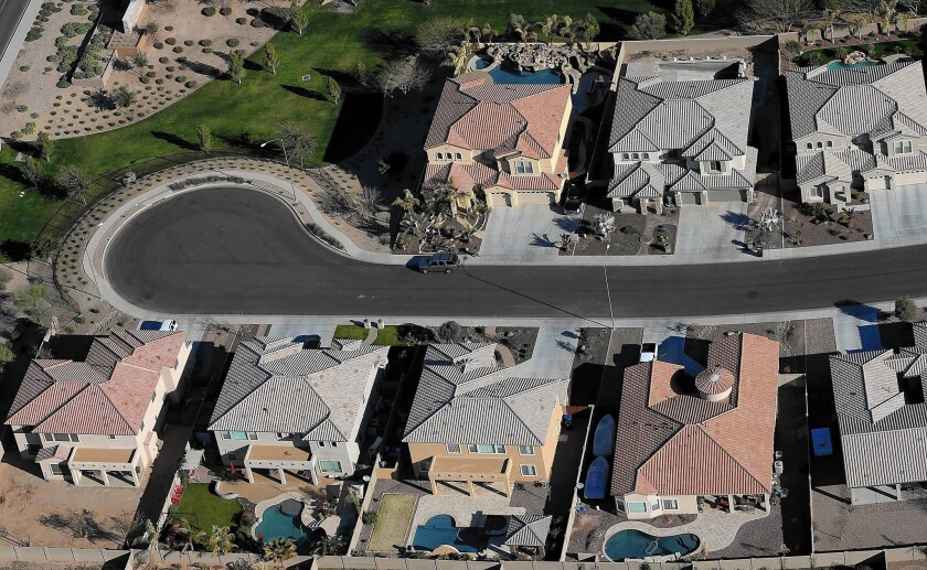 Arizona experienced some of the steepest drops in home prices during the recession but now has a serious negative equity rate of 18%, just slightly above the national average of 15%. Above, a Mesa, Ariz., development.