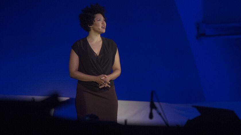 Soprano Julia Bullock performs at the Hollywood Bowl in 2016.