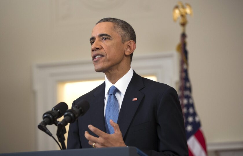 US President Barack Obama delivers an address to the Nation on Cuba