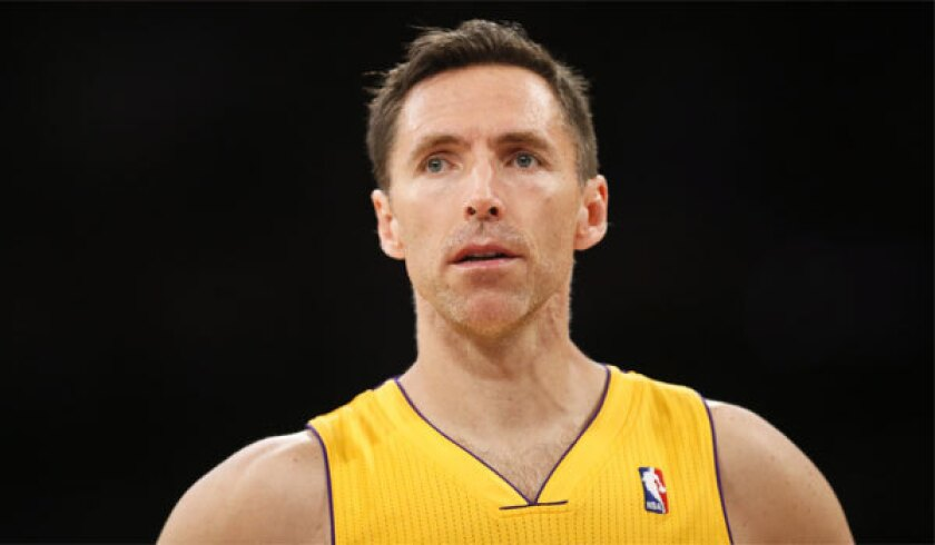 Steve Nash will earn $9.7 million in the final season of his three-year deal with the Lakers.