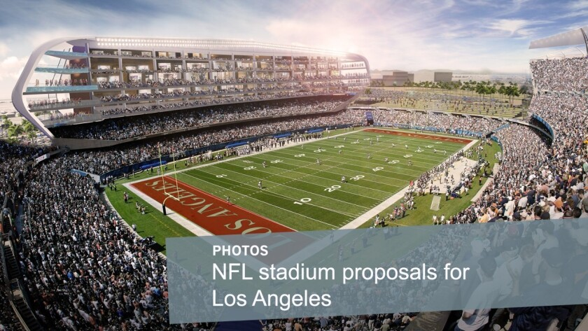 The new NFL football stadium proposed by the San Diego Chargers and Oakland Raiders would be built on a 168-acre site at the southwest quadrant of the intersection of the 405 Freeway and Del Amo Boulevard.