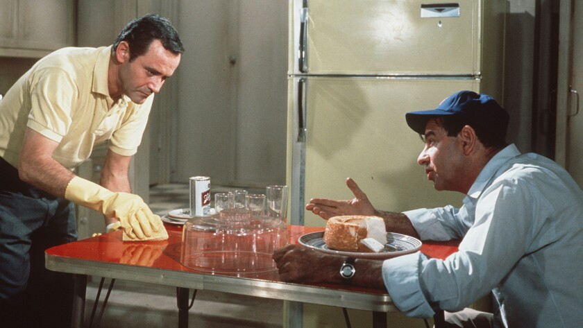 """Jack Lemmon, left, and Walter Matthau in the 1968 movie """"The Odd Couple."""""""