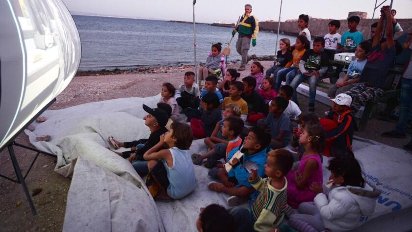 Refugee children in Greece.