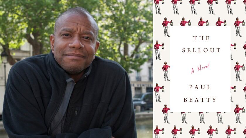 """Author Paul Beatty and the cover of the book """"The Sellout"""""""