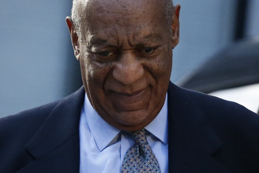 Bill Cosby arrives Tuesday at the Montgomery County Courthouse in Norristown, Pa., for a hearing in the sexual assault case against him.