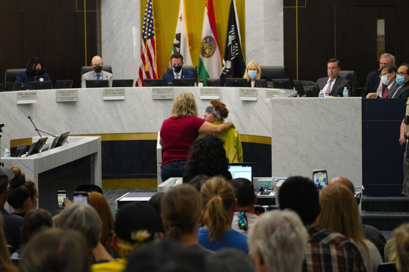 A mother and daughter urged supervisors not to declare health misinformation a public health crisis.