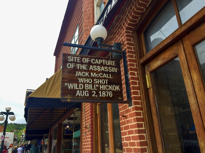 """The building in Deadwood where Jack McCall was captured after shooting """"Wild Bill"""" Hickok during a game of poker earlier in the day."""